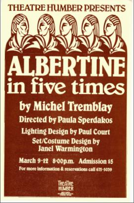 """Albertine in Five Times"" : [poster]"