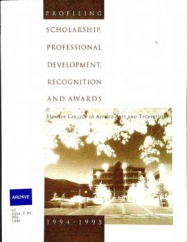 """Profiling Scholarship, Professional Development, Recognition and Awards"" : [publication]"