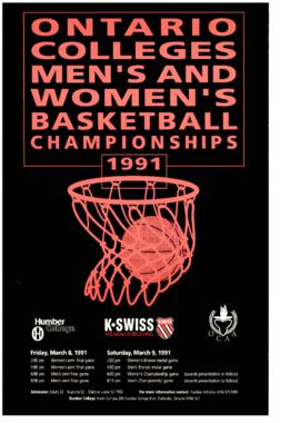 """Ontario Colleges Men's and Women's Basketball Championship, 1991"" : [poster]"